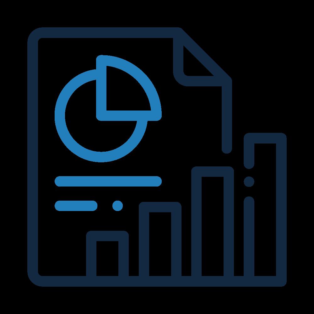 Icone courbes et graphique, services