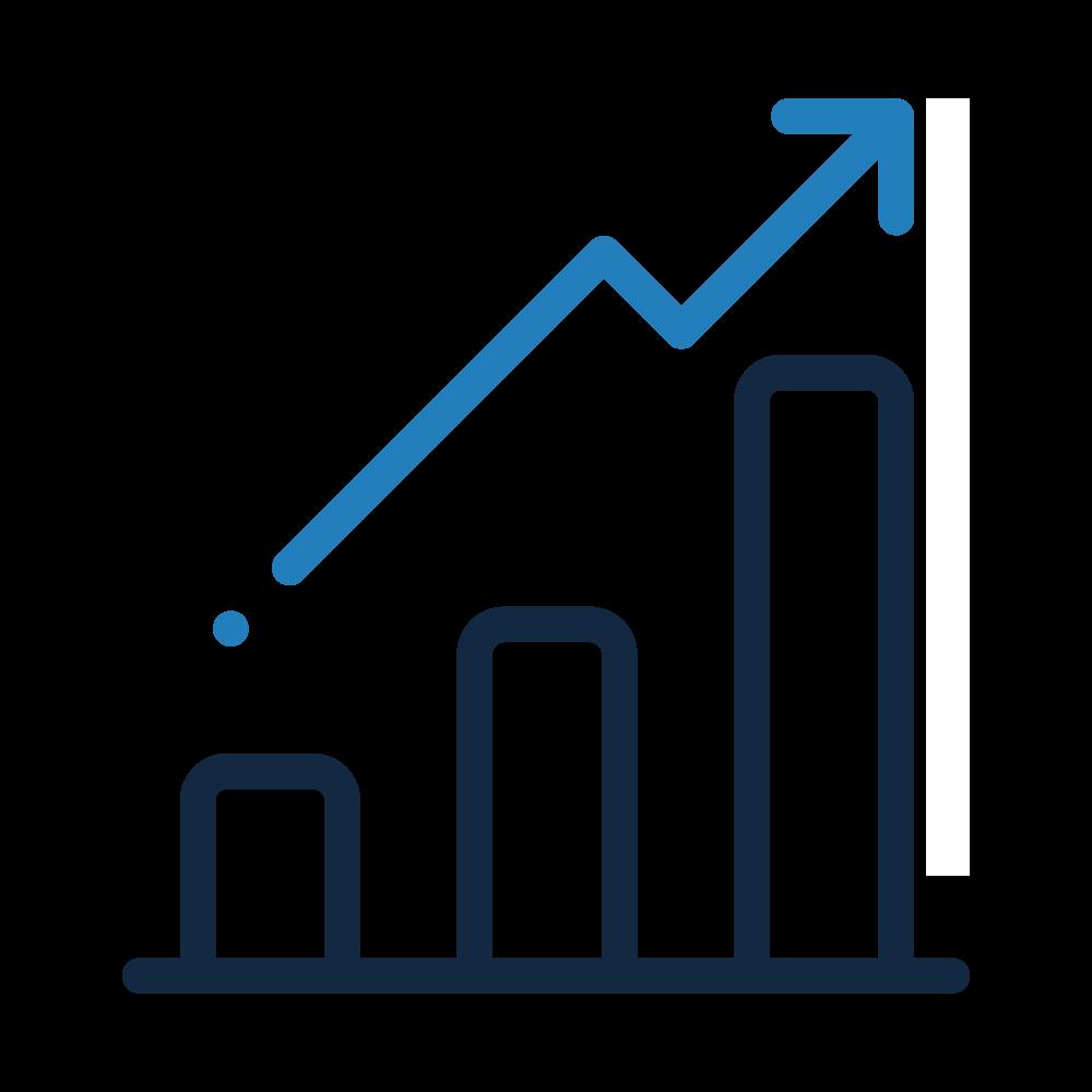 Icone courbe, gestion des référentiels de données, BIPP Consulting