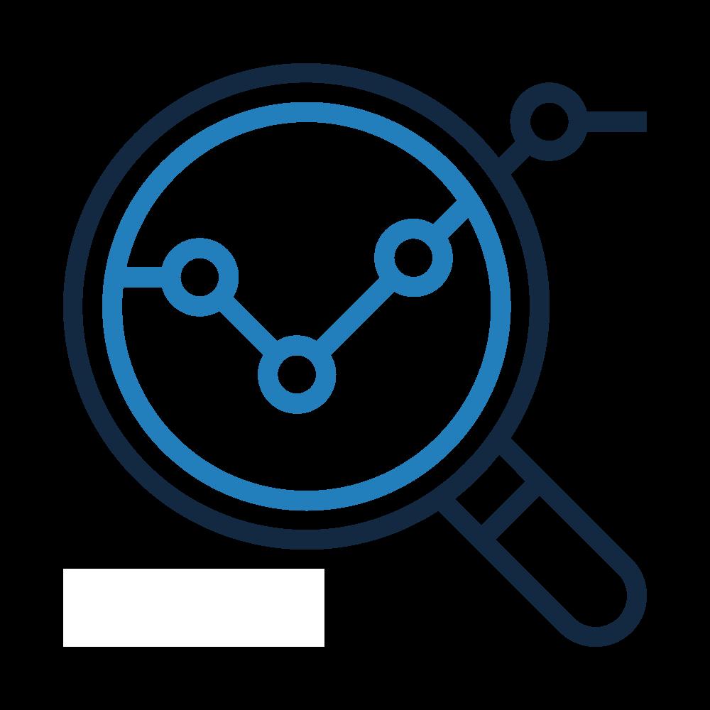 Icone loupe, collecte des données, BIPP Consulting